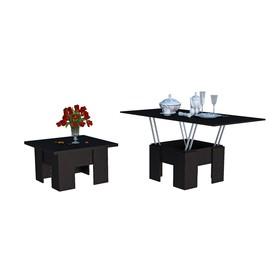 Стол трансформер, 776(1552)х776х460(750), Венге