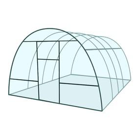 Каркас теплицы «Базовая», 4 × 3 × 2,1 м, металл, профиль 20 × 20 мм, шаг 1 м, 1 мм, без поликарбоната Ош