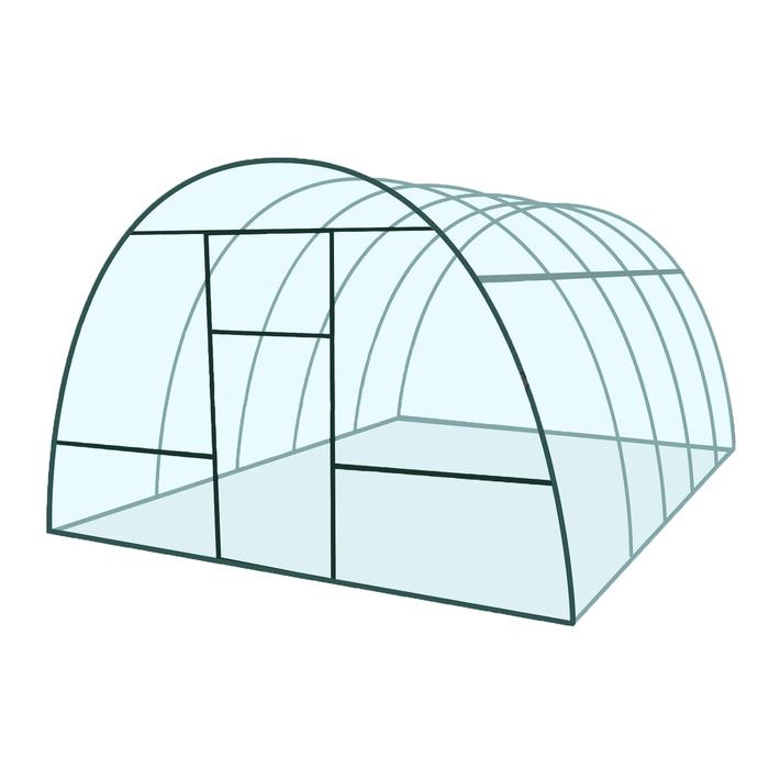 Каркас теплицы «Базовая», 6 × 3 × 2,1 м, металл, профиль 20 × 20 мм, без поликарбоната, 2 форточки