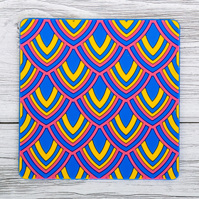 Подставка под горячее «Узоры», 10 × 10 см