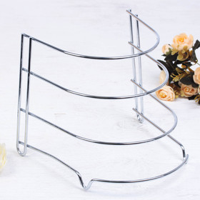 Stand for storage of pans, color chrome