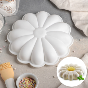 """Form for baking and mousse desserts 22 x 5 cm """"Daisy"""", white"""