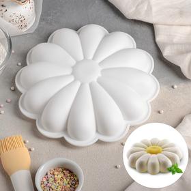 Форма для муссовых десертов и выпечки «Ромашка», 22×5 см, цвет белый