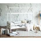 Кровать-домик  №1 , цвет белый, спальное место 70 х 160 см