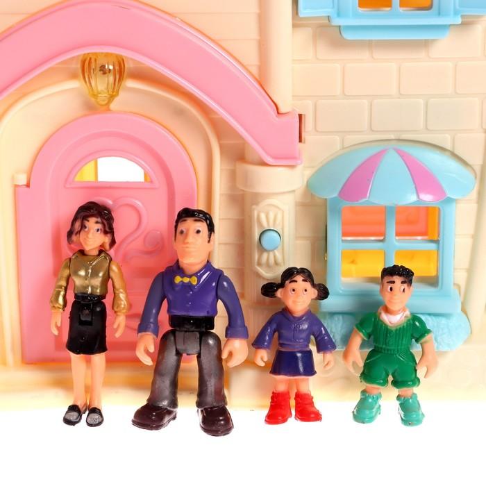 Дом для кукол «Большая семья», с мебелью и аксессуарами, световые и звуковые эффекты