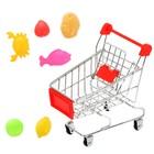 """Тележка для покупок """"Мини-магазин"""" с продуктами, 7 предметов"""