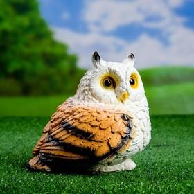 """Садовая фигура """"Совушка малая"""" коричневая 15х15 см"""
