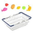 """Корзинка для покупок """"Мини-супермаркет"""" с продуктами, 7 предметов"""