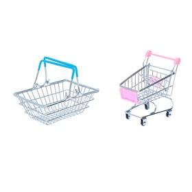 """Набор для покупок """"Мини-магазин"""" с корзинкой и тележкой"""