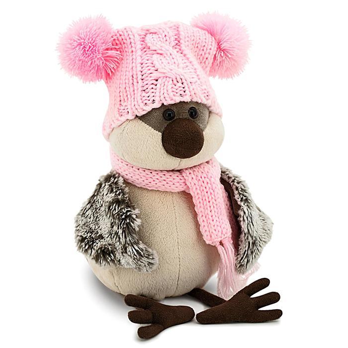 Мягкая игрушка «Воробей» в весёлой шапке, 20 см - фото 726736165
