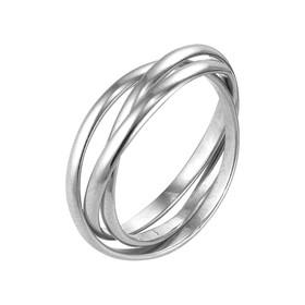 "Кольцо посеребрение ""Три нити"", 17,5 размер"