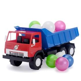 Машина «Камаз», с шариками, МИКС