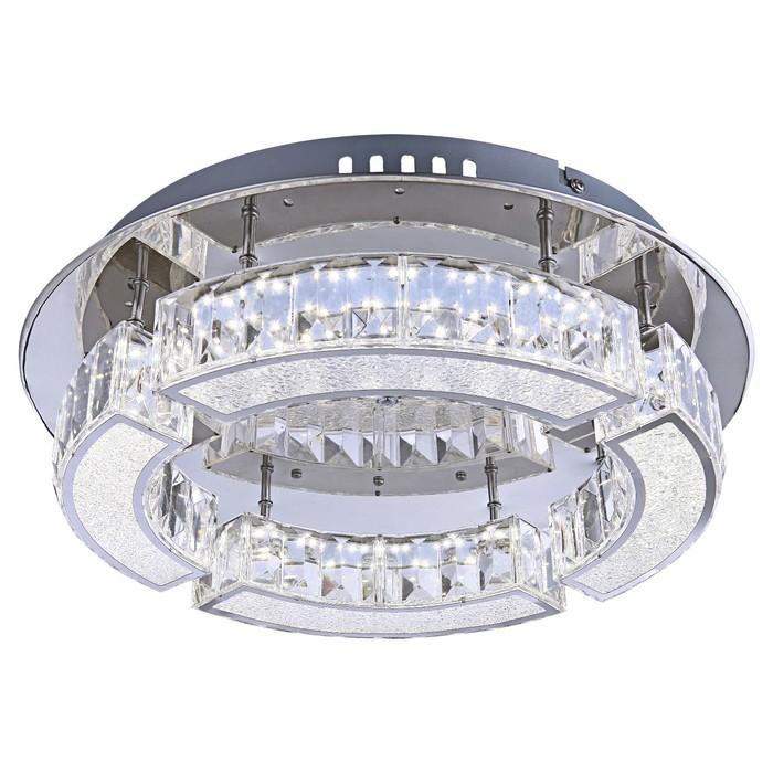 Люстра потолочная SILURUS 1x20Вт LED хром 37x37x10см - фото 8442140