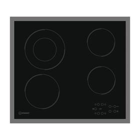 Варочная поверхность Indesit RI 261 X, электрическая, 4 конфорки, чёрная
