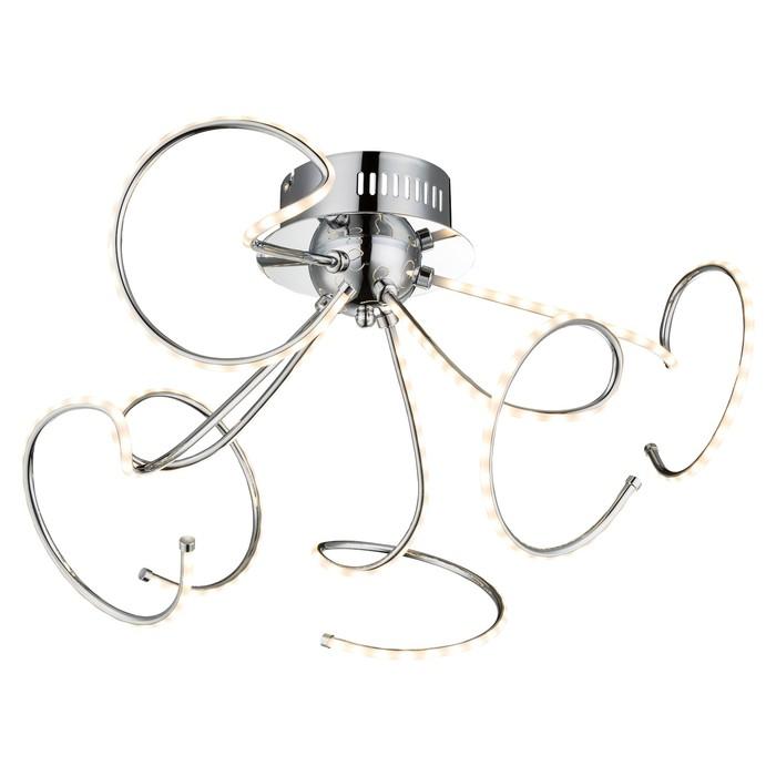 Люстра потолочная REBEL 1x21Вт LED хром 46x46x31см - фото 8442168