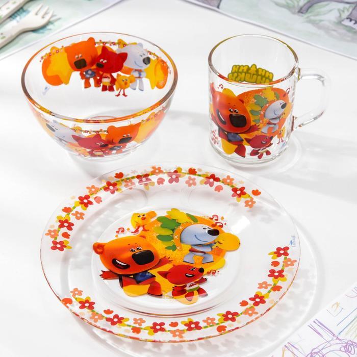 """Набор посуды """"Ми-Ми-Мишки. Неуловимая команда"""", 3 предмета"""
