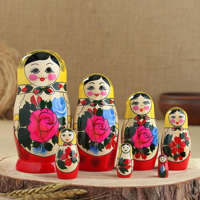 """Матрешка """"Семёновская"""", 7-и кукольная, высшая категория - фото 728136687"""