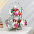 """Сервиз чайный """"Роспись"""", 13 предметов: чайник 1 л, 6 чашек 210 мл, 6 блюдец"""