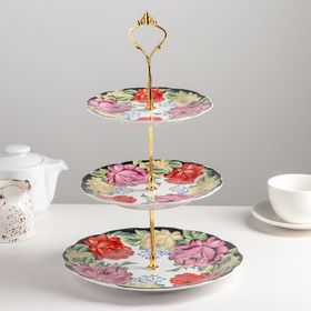 "Dish 3 tier ""Painting"" 15/17,8/22,8 cm"