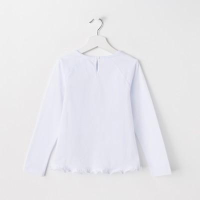 Джемпер для девочки, рост 98 см, цвет белый