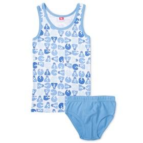 Комплект для мальчика (майка, трусы), рост 110-116 см, цвет голубой CAK 3331