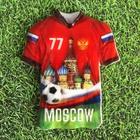 """Магнит в форме футболки """"Москва"""""""