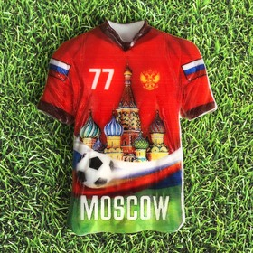 """Magnet in the shape of a t-shirt """"Moscow"""""""