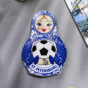"Magnet in the shape of dolls ""Saint-Petersburg"""