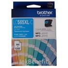Картридж струйный Brother LC565XLC голубой для Brother MFC-J2510 (1200стр.)