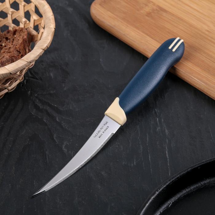 Нож для помидоров и цитрусовых Tramontina Multicolor, лезвие 10 см, сталь AISI 420