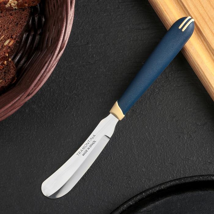 Нож для масла Tramontina Multicolor, лезвие 7,5 см, сталь AISI 420