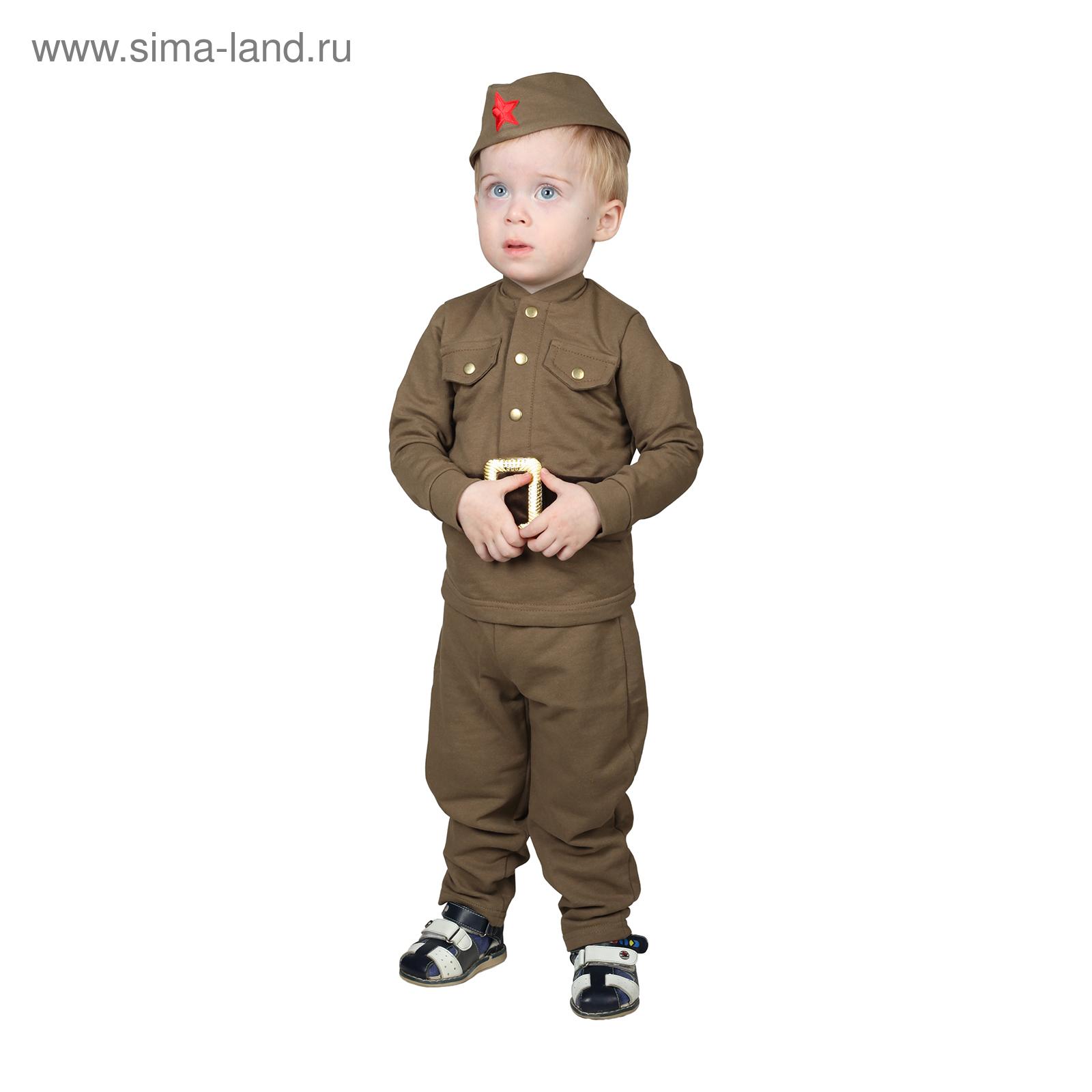 Костюм военного для мальчика  гимнастёрка, галифе, пилотка, трикотаж,  хлопок 100% 59b33b70802