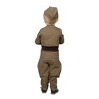 Костюм военного для мальчика: гимнастёрка, галифе, пилотка, трикотаж, хлопок 100%, рост 86 см, 1-2 года - фото 105522157