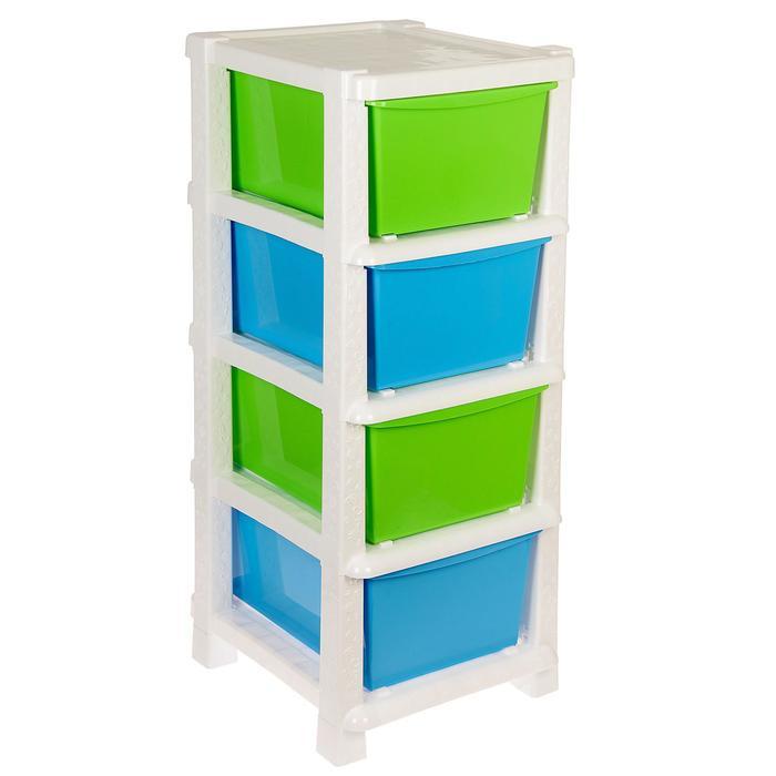 Система модульного хранения №14, цвет белый, 4 секции