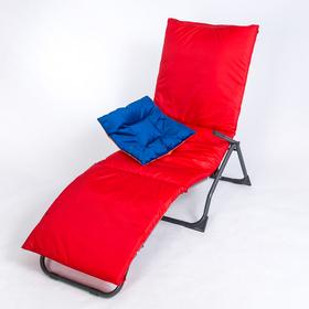 Подушка-матрас водоотталкивающ. 192х60х5 см, оксфорд 100% пэ, красный, синтетич. волокно Ош