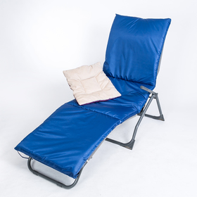 Подушка-матрас водоотталкивающ. 192х60х5 см, оксфорд 100% пэ, васильковый, синтетич. волокно   33036 Ош