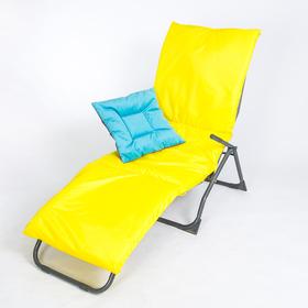 Подушка-матрас водоотталкивающ. 192х60х5 см, оксфорд 100% пэ, желтый, синтетич. волокно Ош
