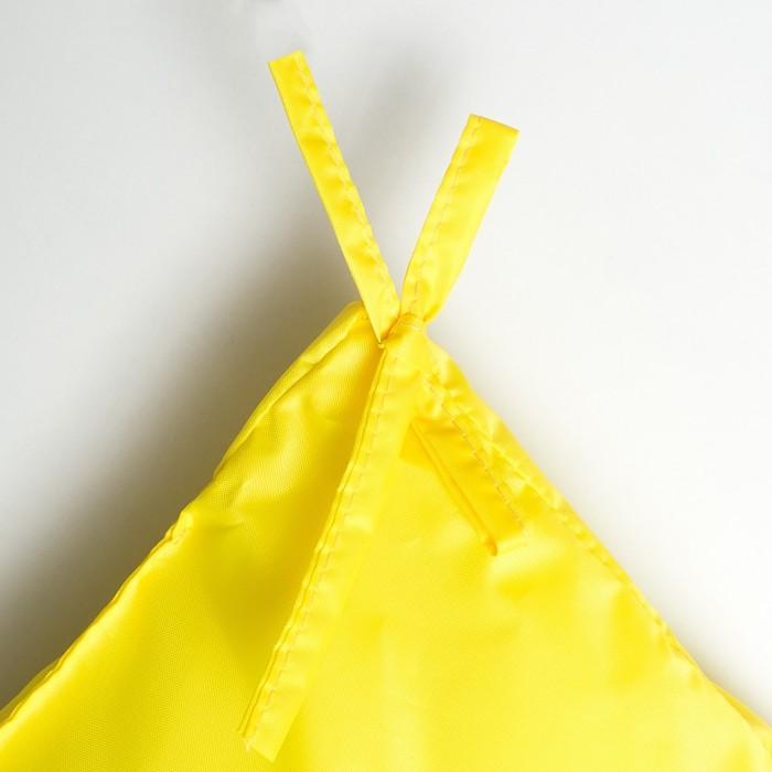 Подушка-матрас водоотталкивающ. 192х60х5 см, оксфорд 100% пэ, желтый, синтетич. волокно