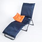Подушка-матрас водоотталкивающ. 192х60х5 см, оксфорд 100% пэ, черно-синий, синтетич. волокно   33036