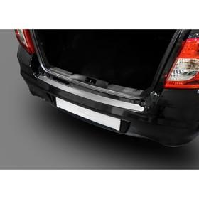 Накладка на задний бампер Rival для Datsun on-DO 2014-н.в., нерж. сталь, NB.S.8702.1 - фото 7428408