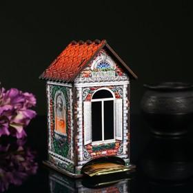 """Чайный домик """"Дом из красного кирпича"""", 9,8×9,8×17,4 см"""