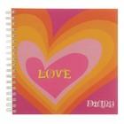 Записная книжка-дневничок 154х154мм, 120 листов Сердце радуга, пластиковая обложка