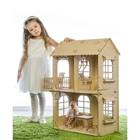 Кукольный дом, средний размер, фанера: 3 мм