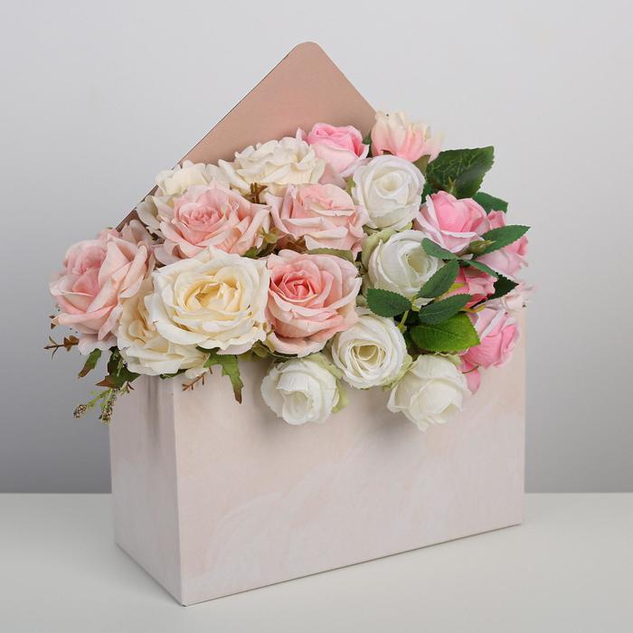 Коробка–письмо «Персиковое суфле», 25 × 33 × 10 см