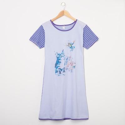 Платье женское, цвет сиреневый, размер 44