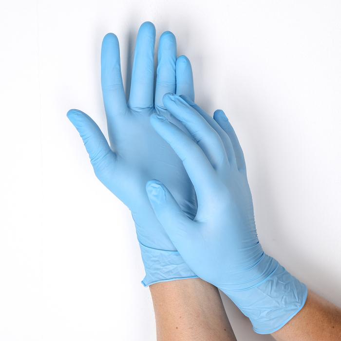 Перчатки нитриловые неопудренные, размер S, 100 шт/уп