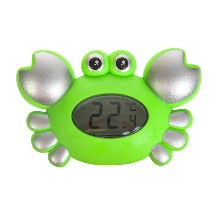 Игрушка-термометр для ванны «Крабик», цвета МИКС
