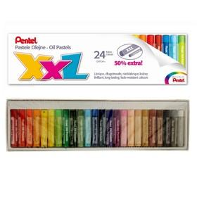 Пастель масляная 24 цвета Pentel XXL, увеличенные мелки
