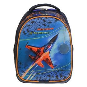 Рюкзак каркасный, Luris «Джерри 4», 38 x 28 x 18 см, 3D-рисунок, «Самолёт»