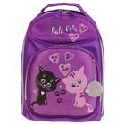Рюкзак каркасный Luris Джерри 8 36x27x16 см для девочки, «Котики»